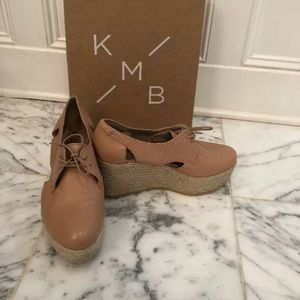 NWT Anthropology KMB Platform Shoes Nude  40 US 10